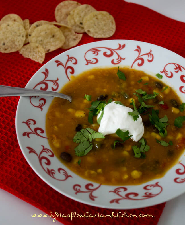 Southwestern Chowder ~ Lydia's Flexitarian Kitchen