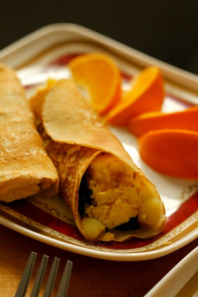 Crepe Recipe Savory Vegetarian
