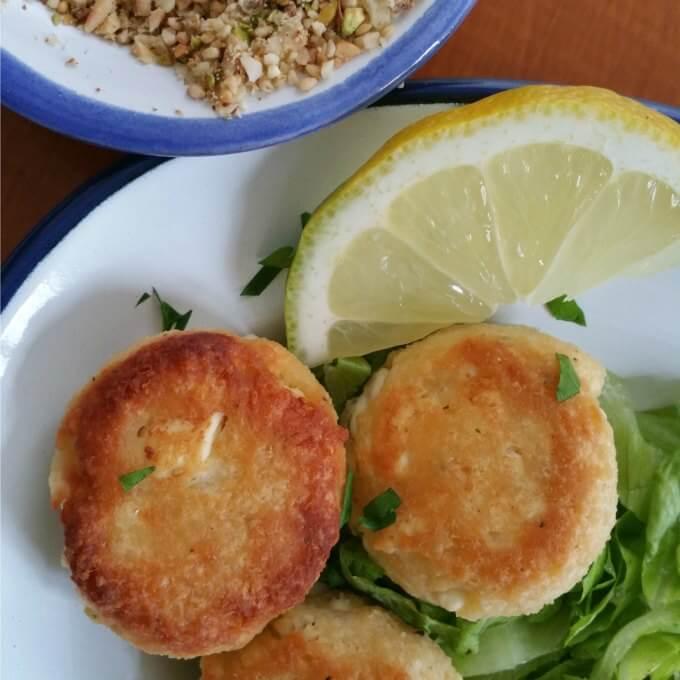 Egyptian Style Feta Cheese Balls - Lydia's Flexitarian Kitchen